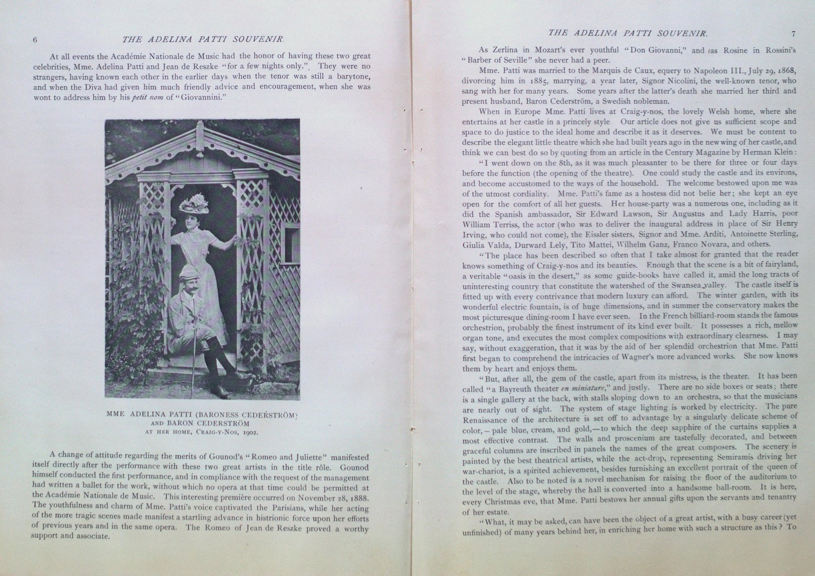 Teresa Vanderburgh's Musical Scrapbook #2 - Adelina Patti's Farewell Program