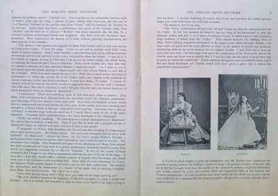 Teresa Vanderburgh's Musical Scrapbook #2 - Adelina Patti's Farewell Program