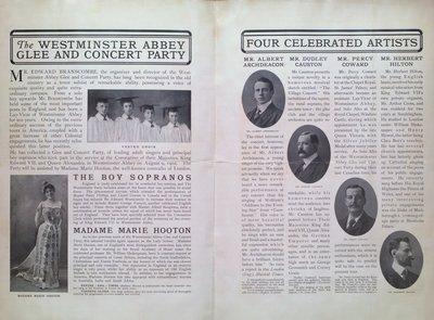 Teresa Vanderburgh's Musical Scrapbook #2 - Westminster Abbey Glee and Concert Party