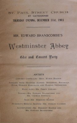 Teresa Vanderburgh's Musical Scrapbook #2 - Westminster Abbey Glee and Concert Party Program