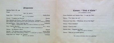 Teresa Vanderburgh's Musical Scrapbook #2 - Service of Praise at Knox Church