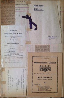 Teresa Vanderburgh's Musical Scrapbook #2 - Musical Programs