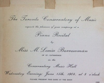 Teresa Vanderburgh's Musical Scrapbook #2 - Piano Recital by Miss M. Louise Barrowman
