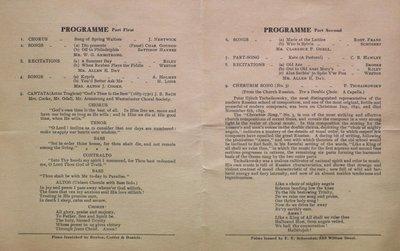 Teresa Vanderburgh's Musical Scrapbook #2 - Westminster Choral Society Concert Program