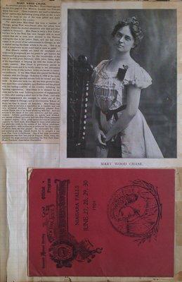 Teresa Vanderburgh's Musical Scrapbook #2 - New York State Music Teachers Association Program and Biography of Mary Wood Chase