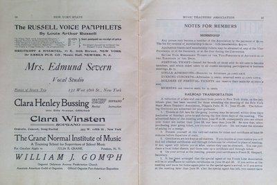 Teresa Vanderburgh's Musical Scrapbook #2 - Program for the Sixteenth Annual Meeting of the New York State Music Teachers' Association