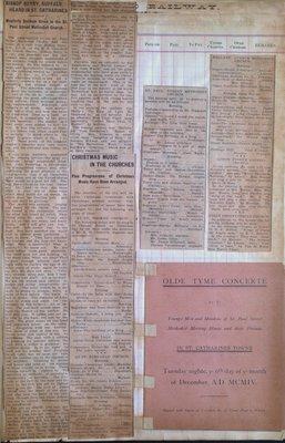 Teresa Vanderburgh's Musical Scrapbook #2 - Newspaper Clippings and A Concert Program