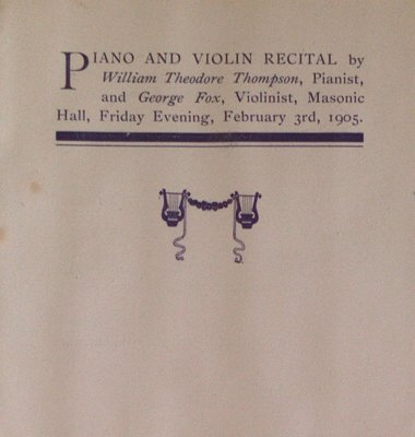 Teresa Vanderburgh's Musical Scrapbook #2 - Program for a Piano & Violin Recital
