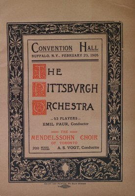 Teresa Vanderburgh's Musical Scrapbook #2 - Program for a Concert Given by the Pittsburgh Orchestra and the Mendelssohn Choir