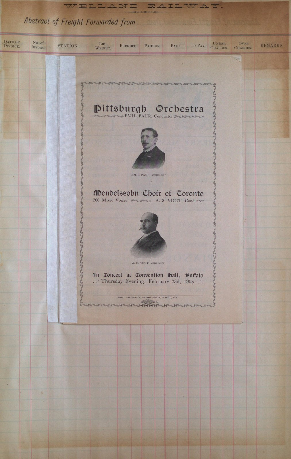 Teresa Vanderburgh's Musical Scrapbook #2 - Program for a Concert Given by The Pittsburgh Orchestra & The Mendelssohn Choir Concert