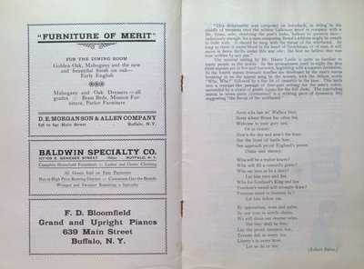 Teresa Vanderburgh's Musical Scrapbook #2 -  Program for The Pittsburgh Orchestra & The Mendelssohn Choir Concert