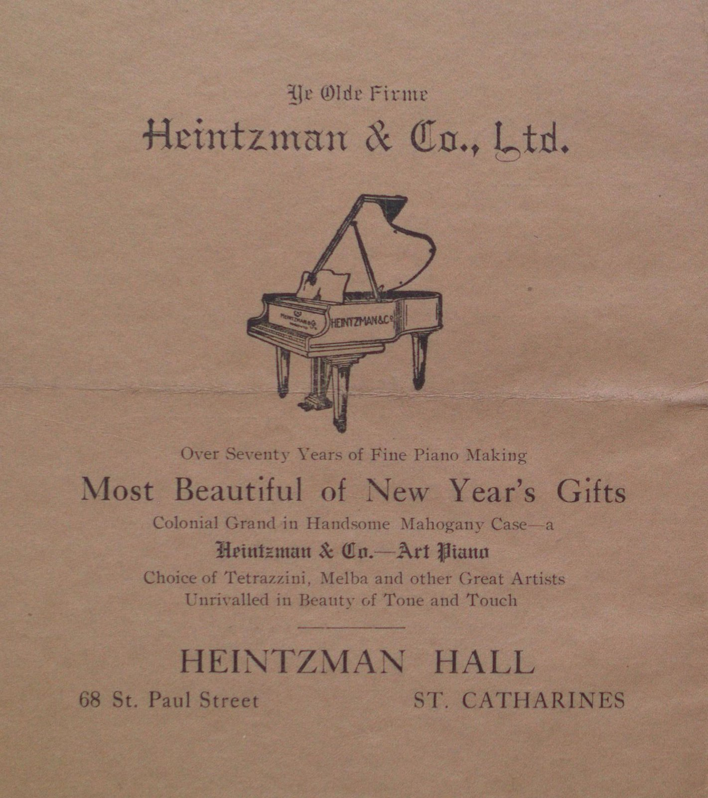Teresa Vanderburgh's Musical Scrapbook #2 - St. Catharines Musical Association Program