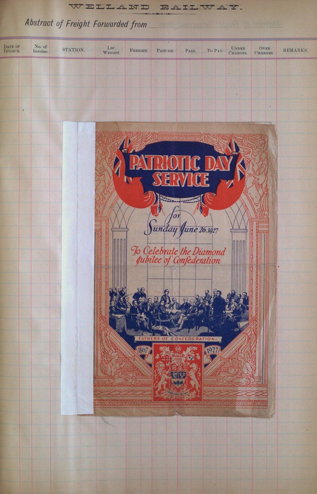 Teresa Vanderburgh's Musical Scrapbook #2 - Patriotic Day Service Program
