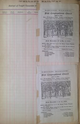 Teresa Vanderburgh's Musical Scrapbook #2 - First Congregational Church Bulletins