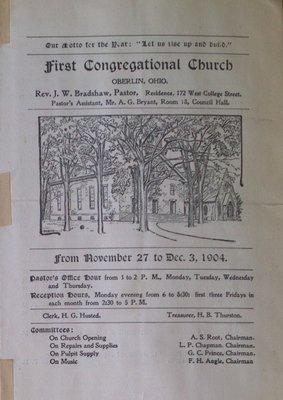 Teresa Vanderburgh's Musical Scrapbook #2 - First Congregational Church Bulletin