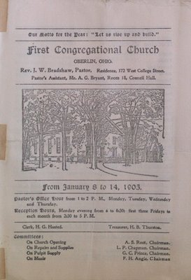 Teresa Vanderburgh's Musical Scrapbook #2 - First Congregational Church Bulletin