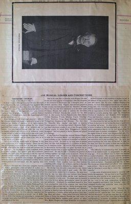 Teresa Vanderburgh's Musical Scrapbook #2 - Portrait and Article About Theodore Thomas