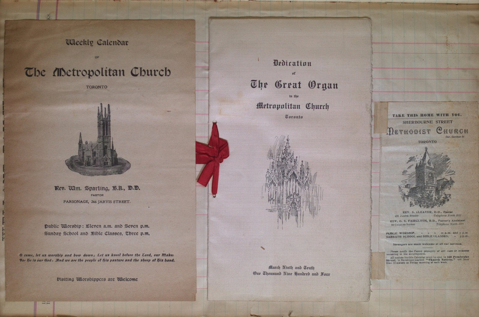 Teresa Vanderburgh's Musical Scrapbook #2 - Various Church Pamphlets