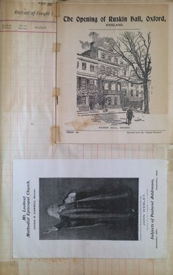Teresa Vanderburgh's Musical Scrapbook #2 - Program for the Opening of Ruskin Hall, Oxford and a Pamphlet for Mt. Lookout Methodist Episcopal Church