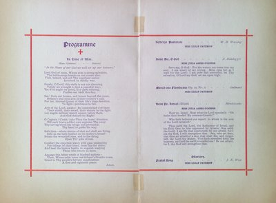 Teresa Vanderburgh's Musical Scrapbook #2 - Program for a Musical Service at St. Thomas' Church