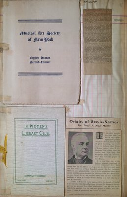 Teresa Vanderburgh's Musical Scrapbook #2 - Musical Programs & Clippings from Magazines and Newspapers