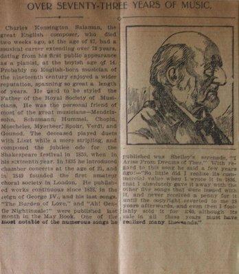 Teresa Vanderburgh's Musical Scrapbook #2 - Charles Kensington Saleman