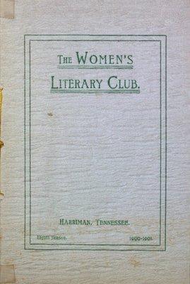 Teresa Vanderburgh's Musical Scrapbook #2 - The Women's Literary Club of Harriman, Tennessee