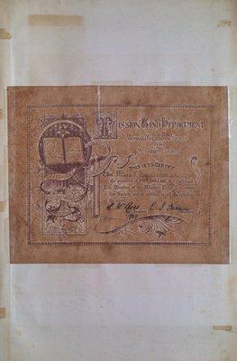 Teresa Vanderburgh's Musical Scrapbook #2 - Mission Band Department Certificate