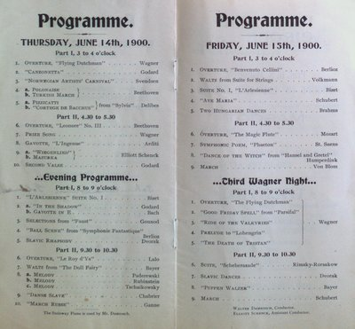 Teresa Vanderburgh's Musical Scrapbook #2 - Official Program for Willow Grove Park Concerts