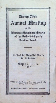 Program for the 23rd Annual Meeting of the Woman's Missionary Society