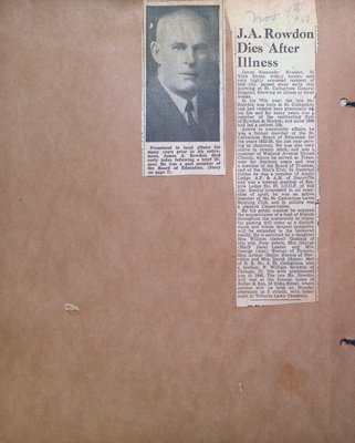 Obituary for James A. Rowdon