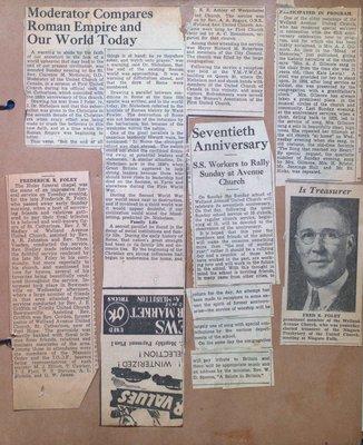 Various Newspaper Articles