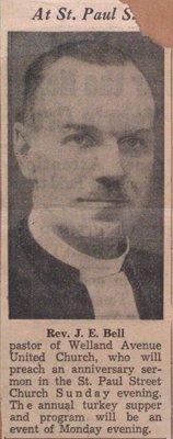 Reverend J.E. Bell Preaching Annoucement