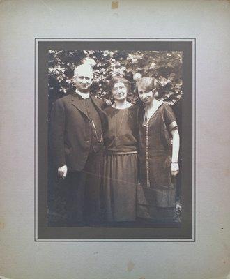 Reverend George W. Barker, Mrs Barker and Muriel
