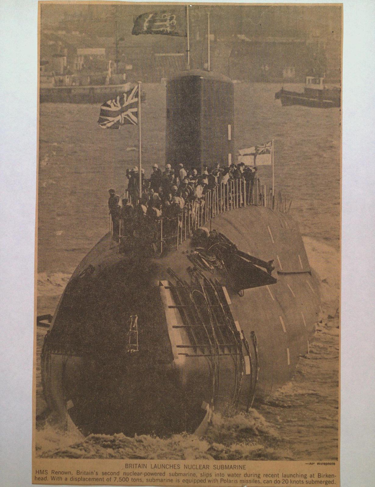 """The Submarine HMS """"Renown"""""""