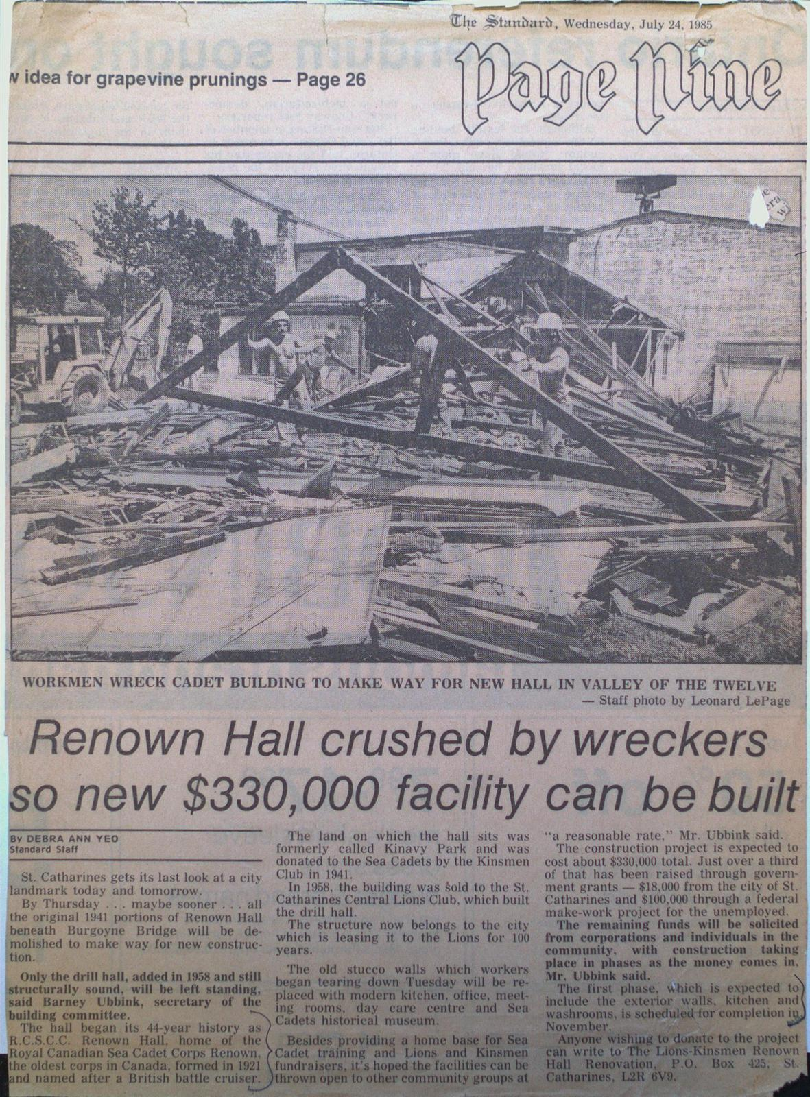 Renown Hall Torn Down