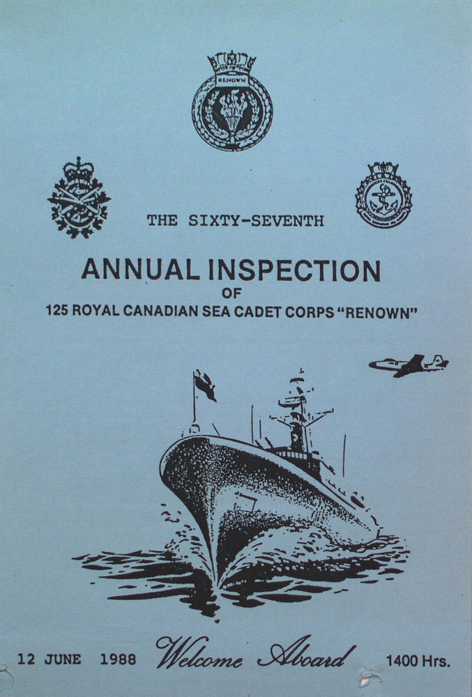 """67th Annual Inspection of the Royal Canadian Sea Cadet Corps """"Renown"""""""