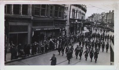 Soldiers Marching Down St. Paul Street
