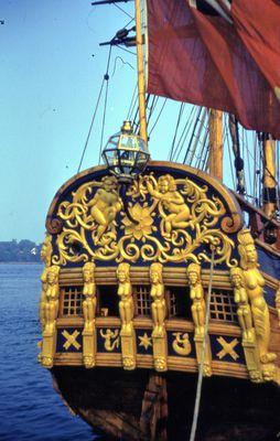 "The Stern of the Replica Ship, ""Nonsuch"""