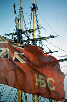 "The Flag of the replica ship, ""Nonsuch"""