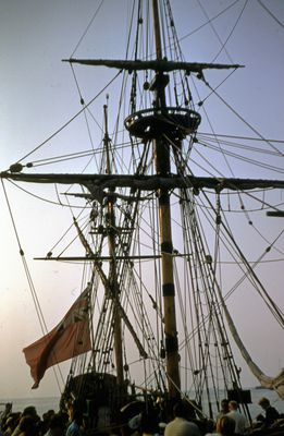 "The Masts of the Replica Ship, ""Nonsuch"""