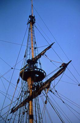 "The Rigging on the Replica Ship, ""Nonsuch"""