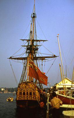 """Stern of the Replica Ship, """"Nonsuch"""""""