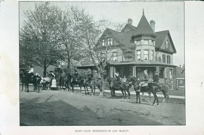 A Hunt Club in front of the McSloy Residence
