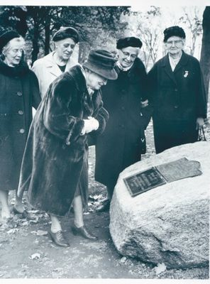 Dedication of Girl Guide Plaque