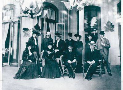 The Duke and Duchess of York and Entourage at the Queen's Royal Hotel