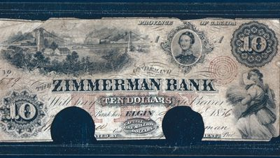 Ten Dollar Bill from the Zimmerman Bank