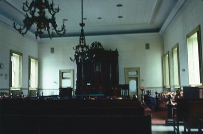 A Courtroom in the Old St. Catharines Courthouse