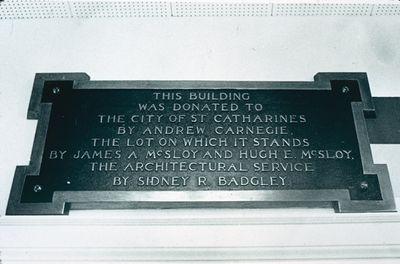 Carnegie Public Library Plaque