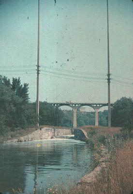 Lock 3 on the Old Welland Canal and the Glenridge Bridge